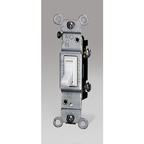 Single-Pole CO/ALR Switch, White