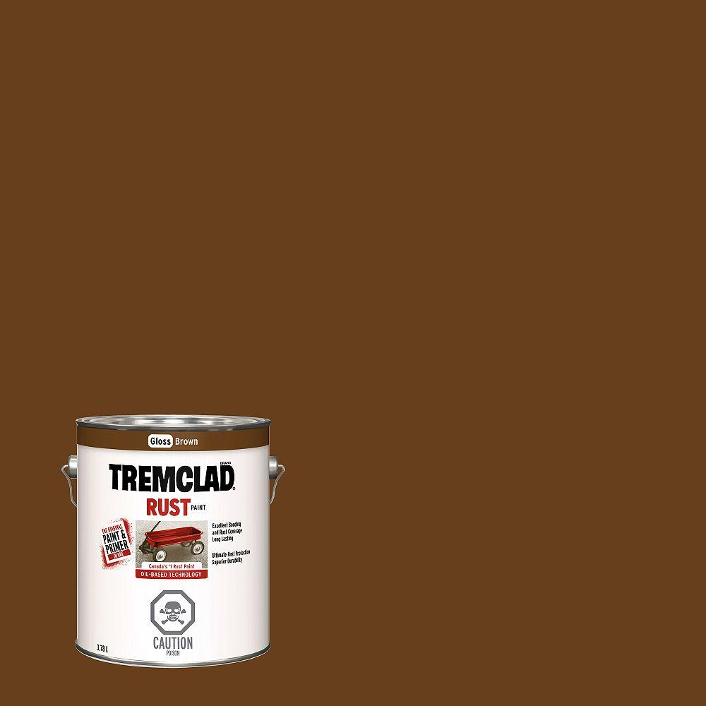 Tremclad Peinture Antirouille A Base D Huile En Brun Lustre 3 78 L Home Depot Canada