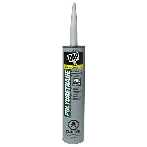 DAP 300ML, Slate Gray, Polyurethane Waterproof Concrete Sealant