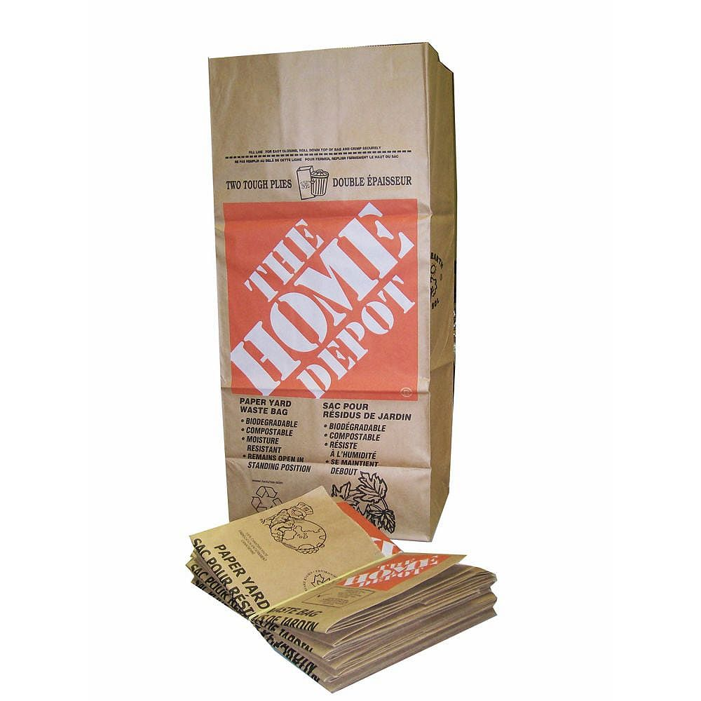 The Home Depot Kraft Paper 2-Ply Lawn, Leaf and Yard Waste Bags (5-Pack)