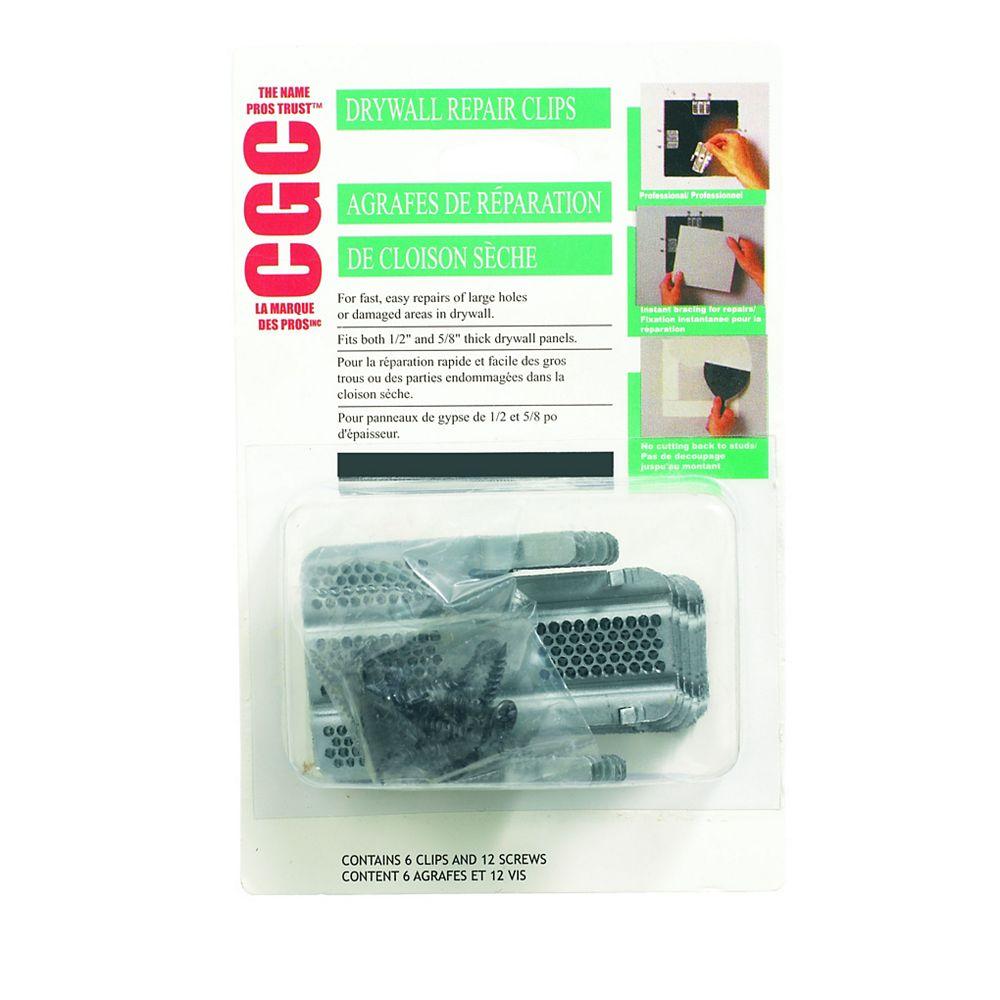CGC Drywall Repair Clips, Package of 6