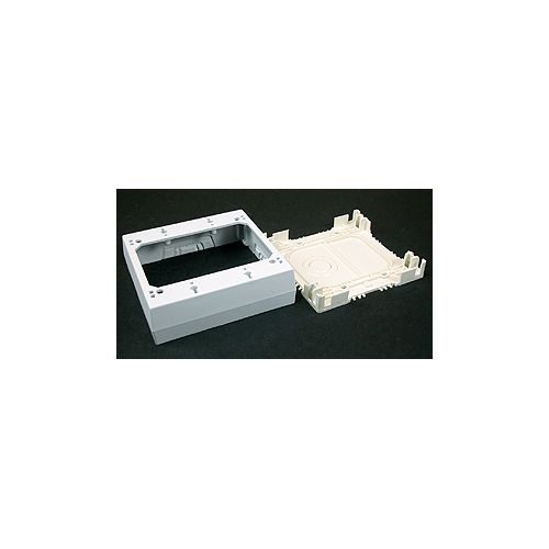 Legrand Wiremold Non-metallic 2 Gang 1 3/8 In. Deep Outlet Box White