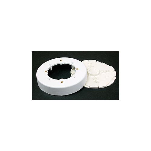 Boîtier dappareil/de luminaire circulaire blanc.