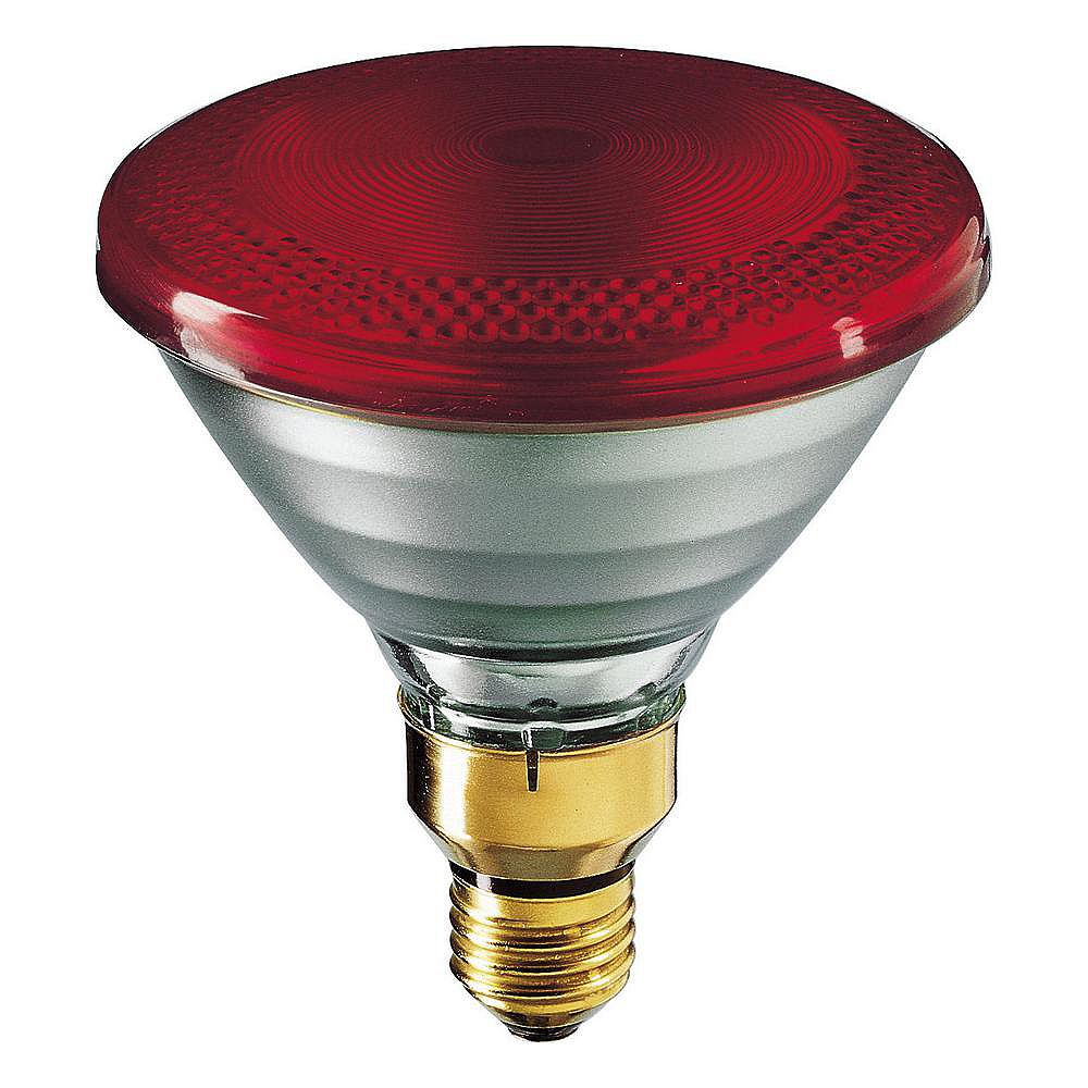 Philips 175W PAR38 Heat Lamp Red Hard Glass