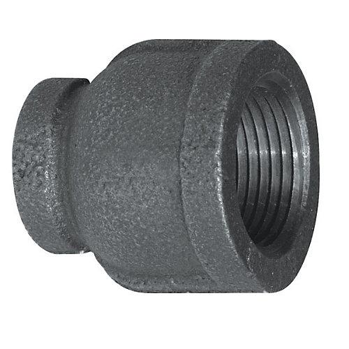 Raccord Fonte Noire Manchon Réducteur 1 Pouce x 1/2 Pouce
