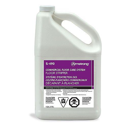 S-490 Décapant pour revêtements de sol de type commercial 3,78L