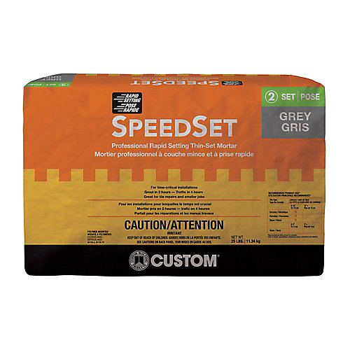 SpeedSet Fast-Setting Thin-Set Mortar Gray - 25-lb