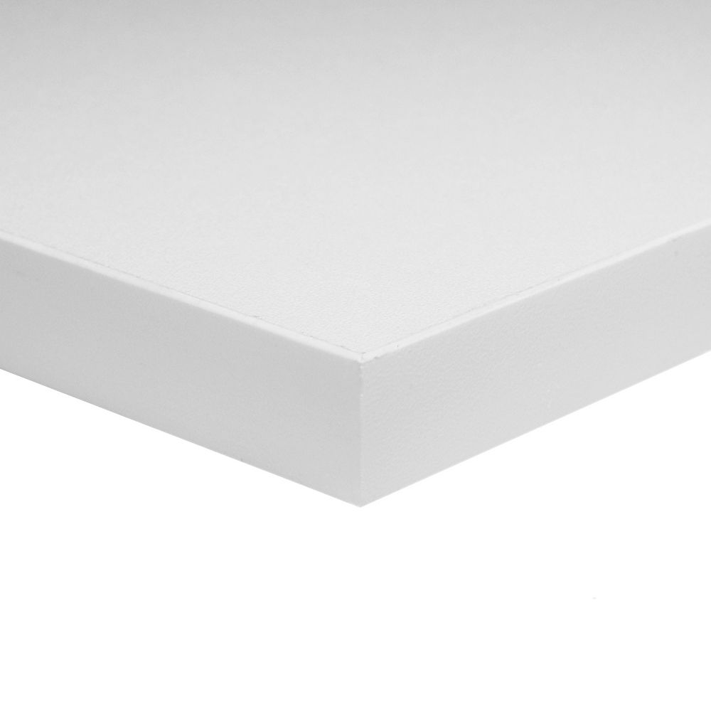 Alexandria Moulding 3/4 Inch x 30 Inch x 60 Inch White Melamine Table Top Handy Panel