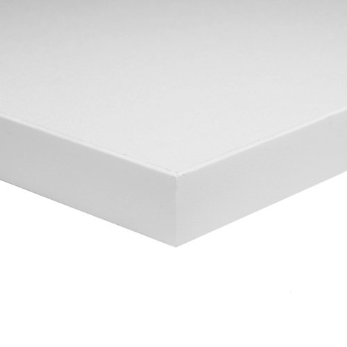3/4-inch x 30-inch x 72-inch White Melamine Table Top
