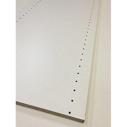 Panneau en Mélamine Perforé pour l'Installation de Tablettes 5/8 po x 16 po x 96 po