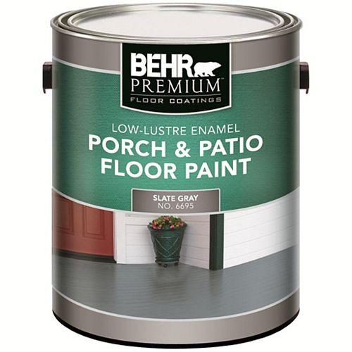 Behr Premium Peinture d'int. et d'ext. peu lustrée pour galeries et planchers PREMIUM PLUS, 3,79 L, gris ardoise