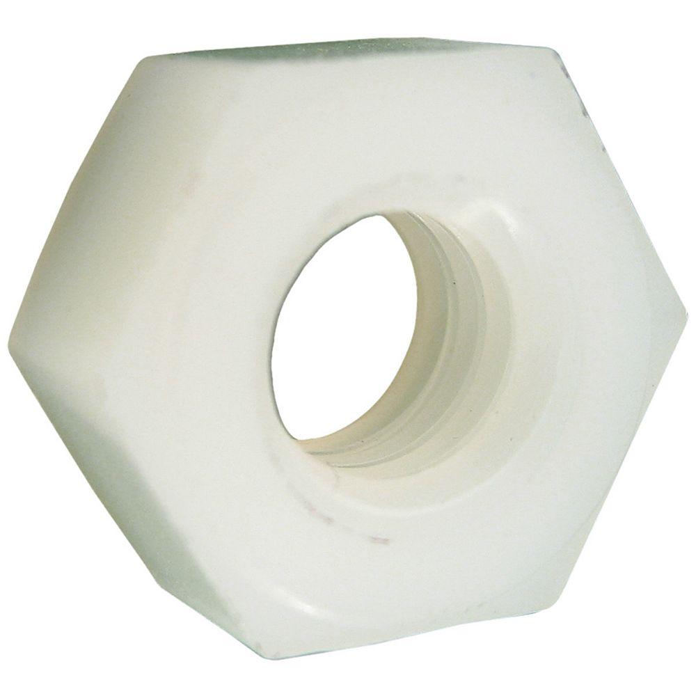 Paulin Écrous hexagonaux 1/4 po-20 en nylon pour vis à six pans creux