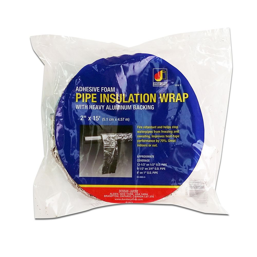 Dundas Jafine Foam Pipe And Duct Wrap 2 inch X 15 foot