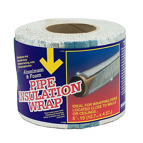 Foam Pipe And Duct Wrap 5 inchX15 foot