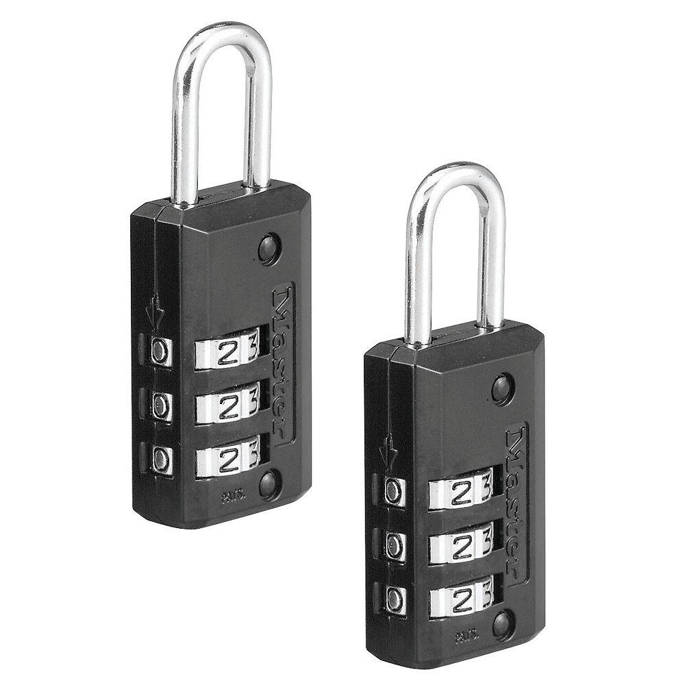Master Lock Cadenas à combinaison 3 numéros réglable 3/4 po