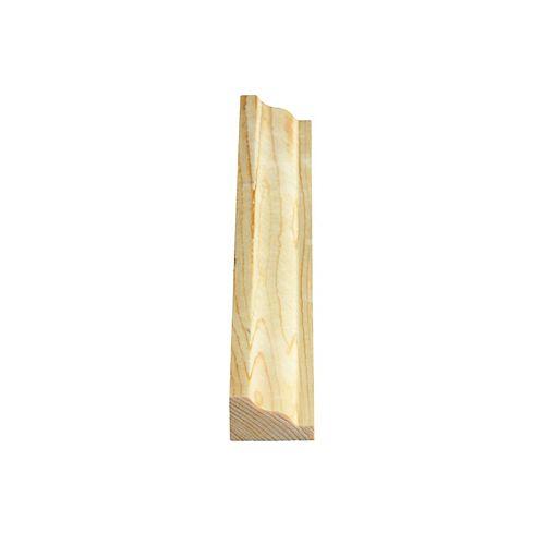 Alexandria Moulding Couronne/moulure de panneau en pin noueux 3244 - 3/4 x 1 1/4