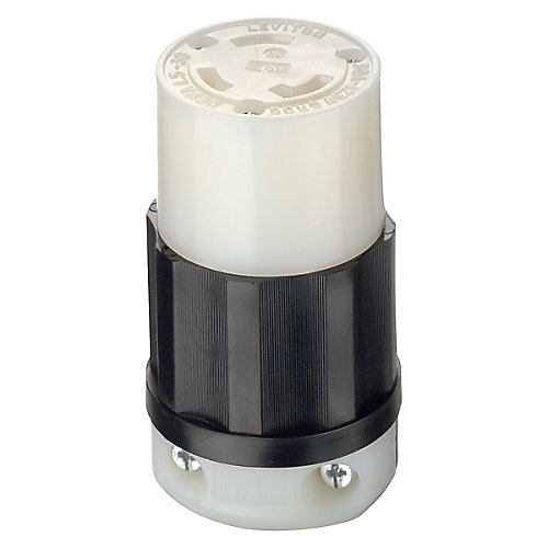 30 Amp Lock Connector 125V, Black And White