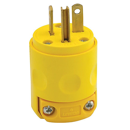 20 Amp PVC Ground Plug 125V, Yellow