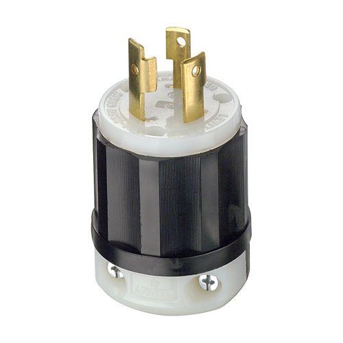 30 Amp Lock Plug 250V, Black And White