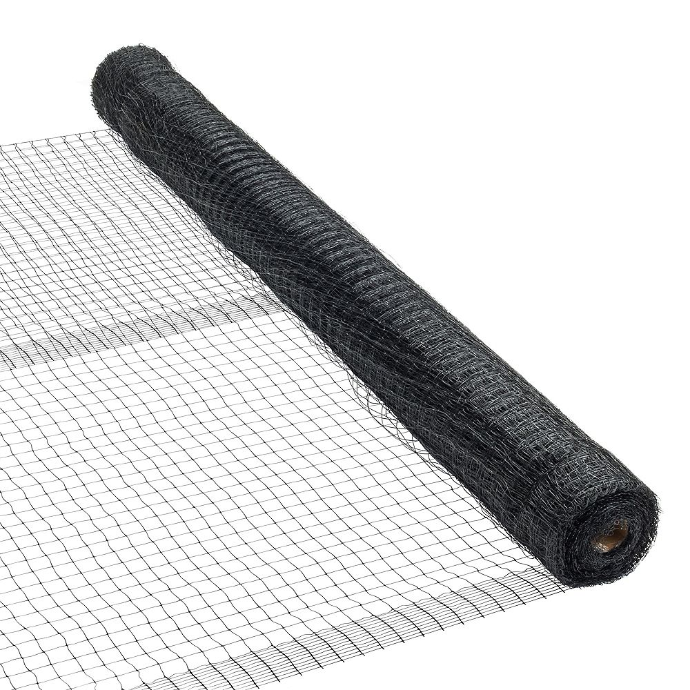Peak Products 100 ft. L x 7 ft. H Plastic Netting in Black with 3/4-inch x 3/4-inch Mesh Size