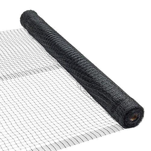 Filet en plastique, 100 pi de longueur x 7 pi de hauteur, en noir