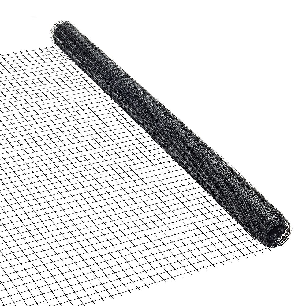 Peak Products 25 ft. L x 36-inch H Plastic Netting in Black with 11/16-inch x 15/16-inch Mesh Size