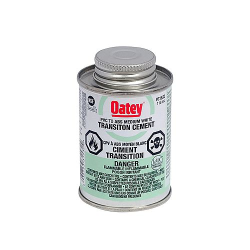 Oatey TRANSITION ABS/CPV BLANC DE 118 ML <sup>©</sup>