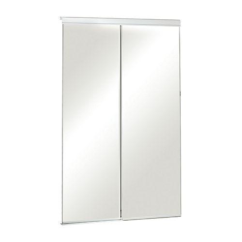 60-inch Frameless Mirrored Sliding Door