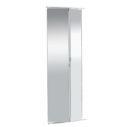 24-inch Frameless Mirrored Bifold Door