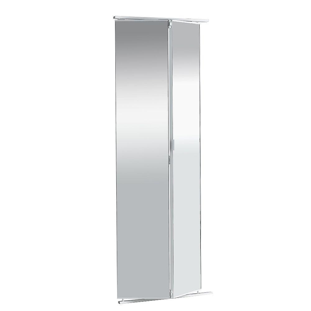 Veranda 36-inch Frameless Mirrored Bifold Door