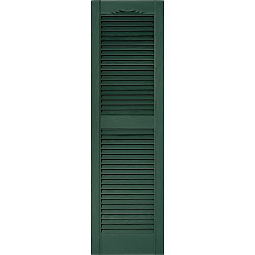 15-inch x 43-inch Louvered Shutter in Forest Green
