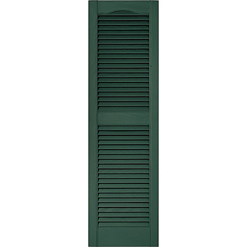 15-inch x 55-inch Louvered Shutter in Forest Green