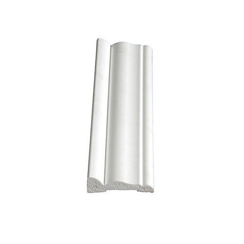 PVC Colonial Casing 9/16 In. x 2-1/8 In. x 7 Ft.
