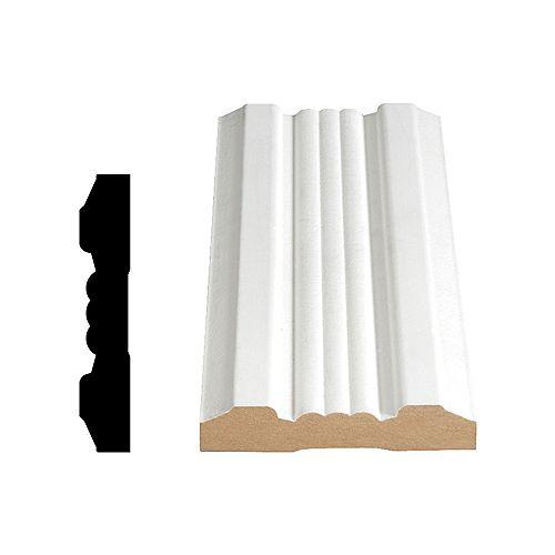 Alexandria Moulding PVC Plain Base 5/16 In. x 3-1/8 In. x 8 Ft.