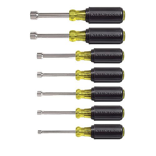 Nut Driver Set 3 inch Shafts, (7-Piece)