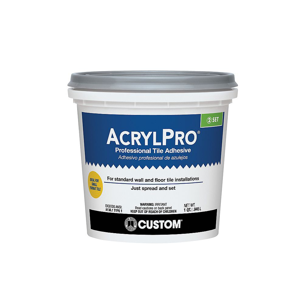 Custom Building Products Acrylpro Ceramic Tile Adhesive Type I Quart The Home Depot Canada