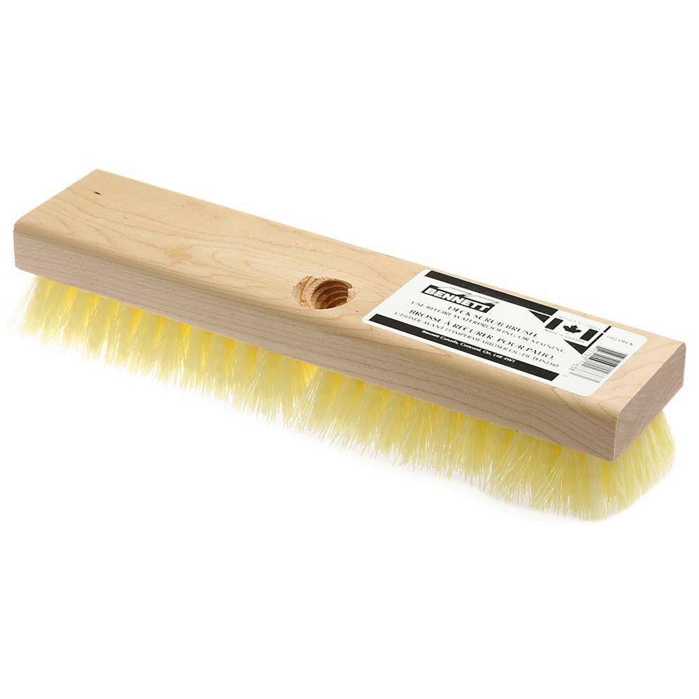 BENNETT 11-inch x 3-inch Tampico/Palmyra Deck Scrub Brush