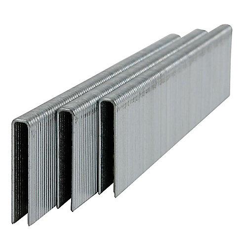 Agrafes galvanisées à couronne étroite de calibre 1-1/4 po x 18 (1000 par boîte)