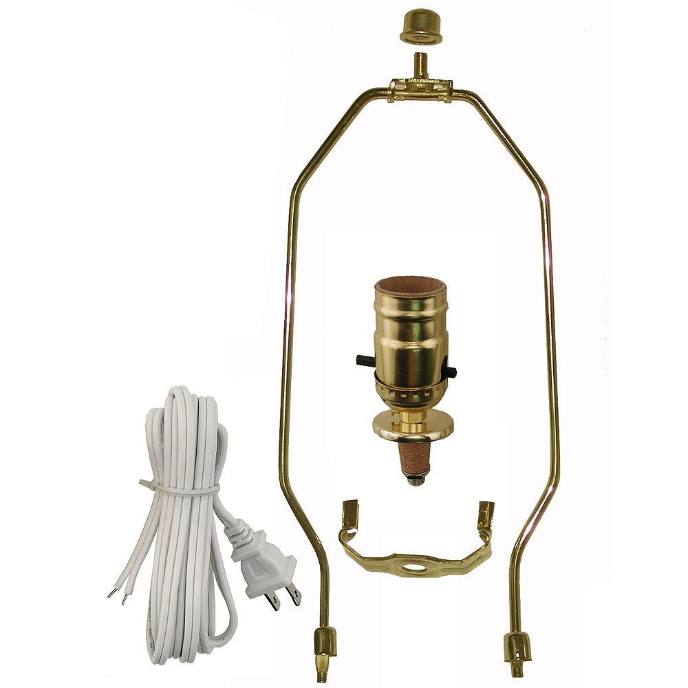 Atron Lamp Kit with Brass Harp