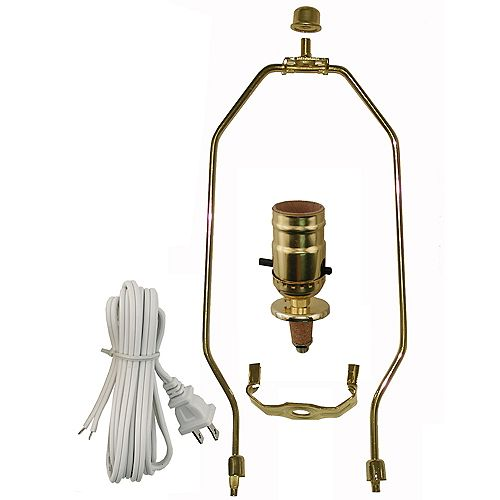 Lamp Kit with Brass Harp