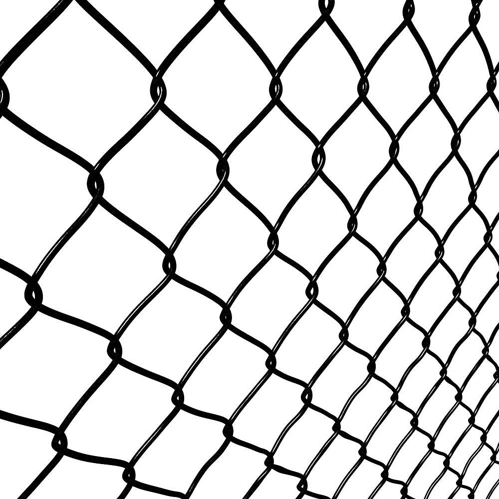 Peak Products 50 Ft W X 5 Ft H Steel Chain Link Pool Fence Mesh In Black With 1 1 2 Inch The Home Depot Canada