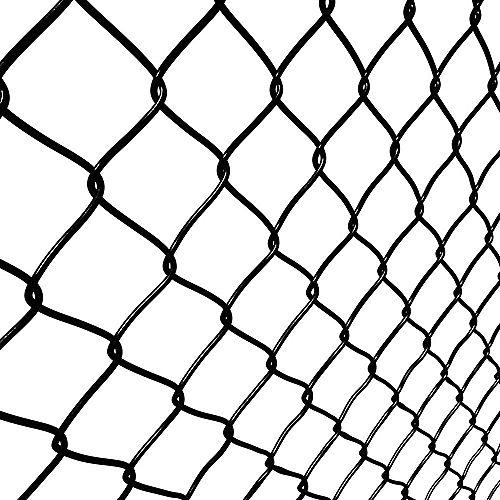 1-1/2 Inch x 60 Inch x 50 Feet Black Chain Link Fence Mesh