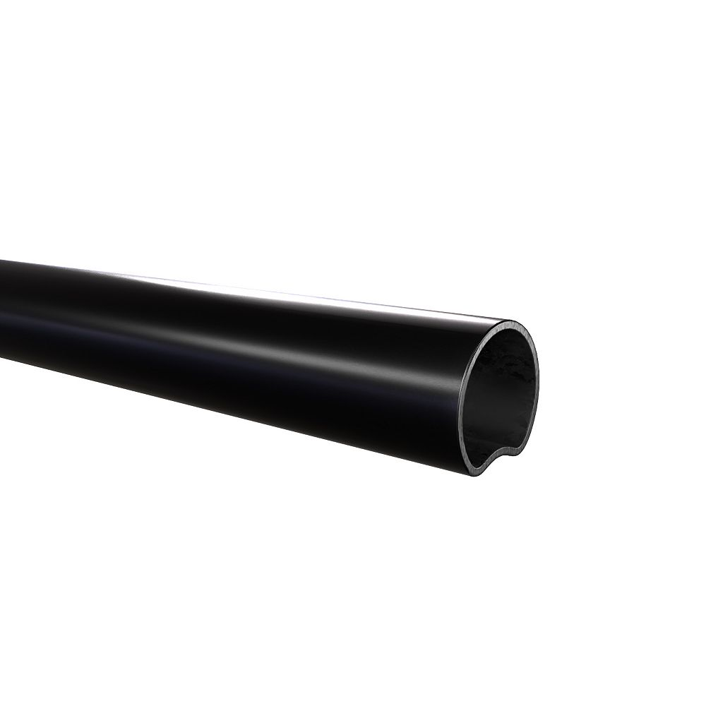 Peak Products 1 1/2-inch W x 7 1/2 ft. H x 1 1/2-inch D Steel Chain Link Fence Line Post in Black