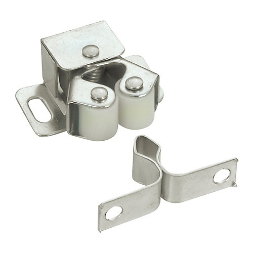 Zinc Double Roller Catch with Diamond Strike - (10-Pack)