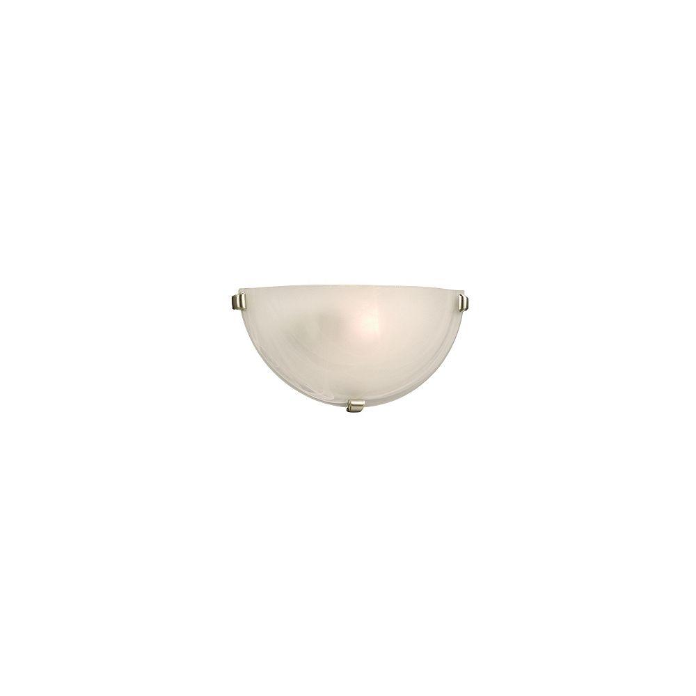 Hampton Bay Applique en verre marbré, une ampoule, avec trois attaches étain