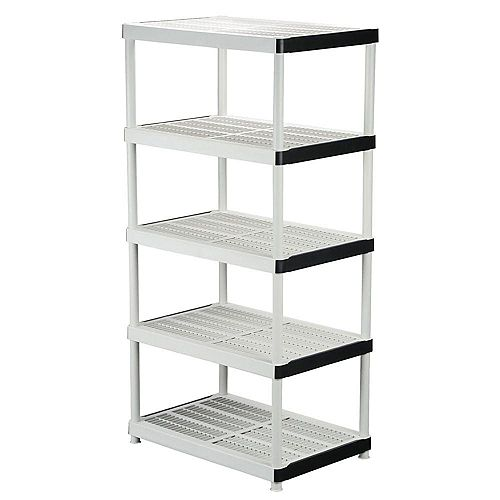 HDX 5-Shelf Resin Storage Unit