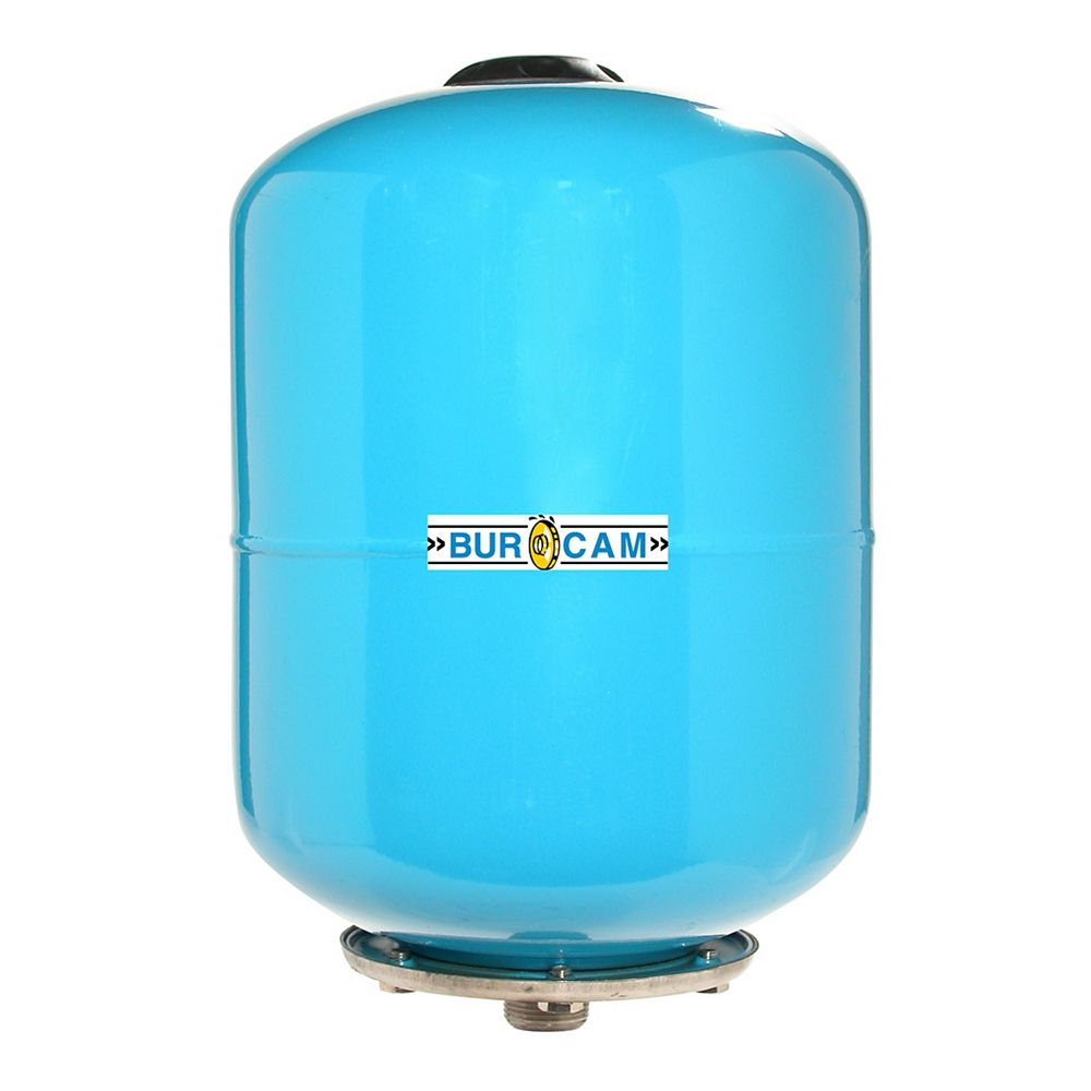 Bur-Cam 8 liter (2.1 USGAL) In-Line Pre-Charge Captive Air Tank