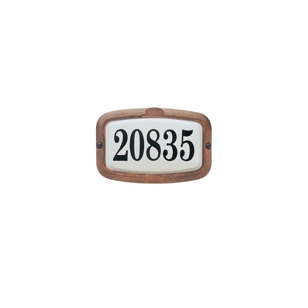 Snoc Vintage Series, Antique Copper Finish, Horizontal or Vertical Address Plate