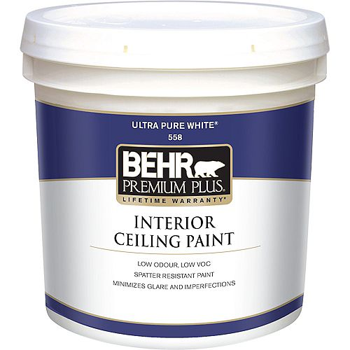 Interior Flat Ceiling Paint, 7.58L