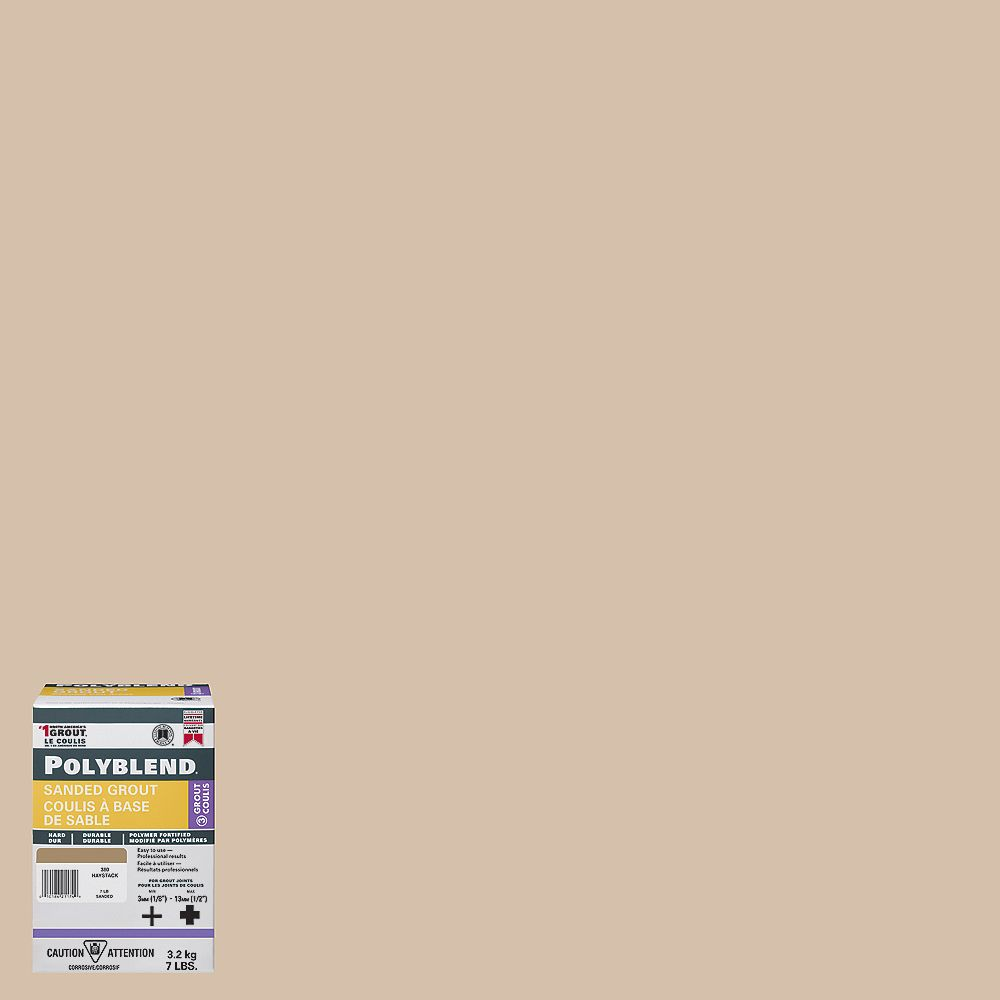 Custom Building Products #365 Canvas - Polyblend Sanded Grout - 7lb